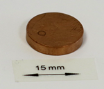 OrigaTip - Copper Sample Pellet ø15x3